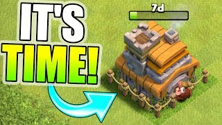 SHOULD I UPGRADE TO TOWN HALL....OR NOT!? - Clash Of Clans - YOU DECIDE!
