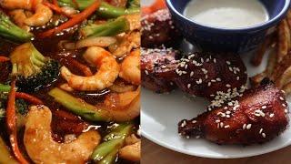 Spend The Day Cooking With Me & Taste Test Vegan Meats   Vegan Shrimp, Bacon, Egg & Chicken!