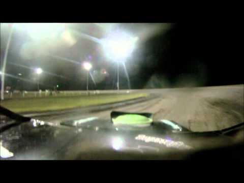 Adams County Speedway Tony Rost Sport Mod A feature in car on board camera ACS 7/2/11