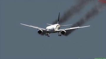 PIA 777-300 Crash Landing Lanzarote Airport  ++ FSX