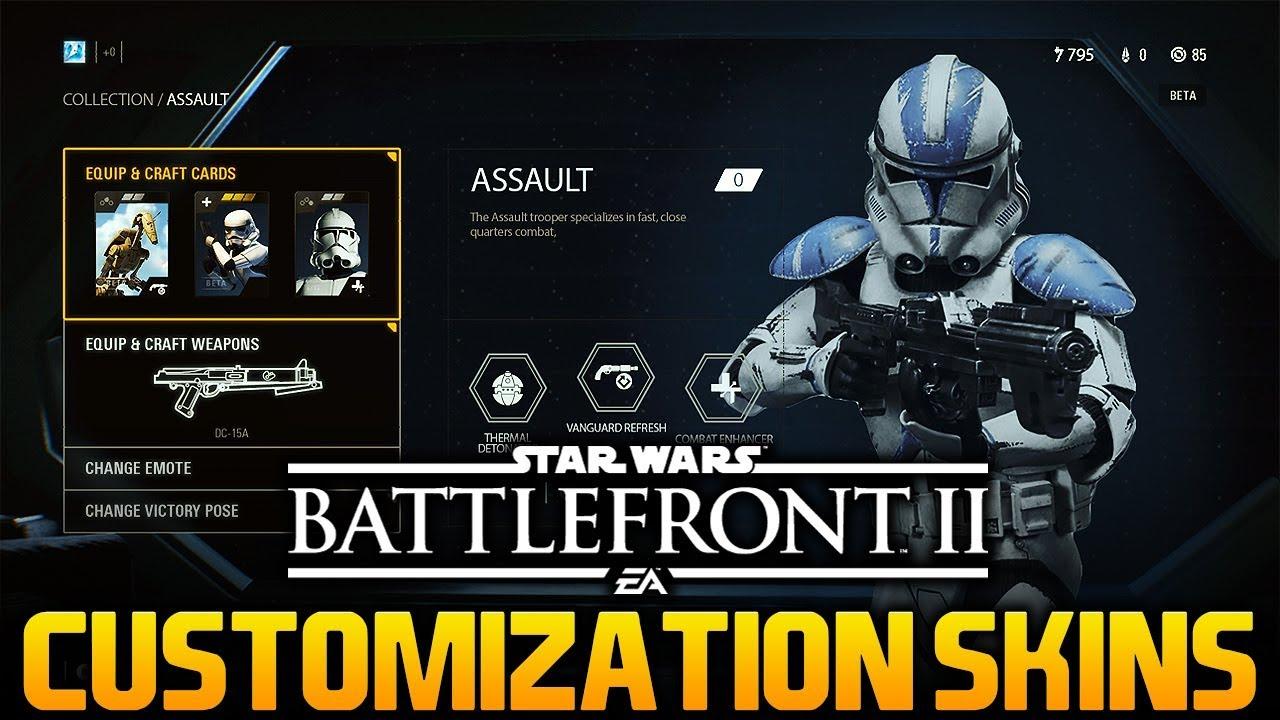 CLONE CUSTOMIZATION & HERO SKINS: Star Wars Battlefront 2 Hero & Clone  Skins Specualtion