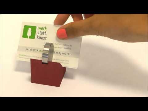 Visitenkartenhalter Aluminium Edelstahl Von Werkstatt Kunst