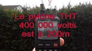 IC-R20 (PART 2) RX Test à 200m de la ligne THT 400 000 volts avec antenne télescopique