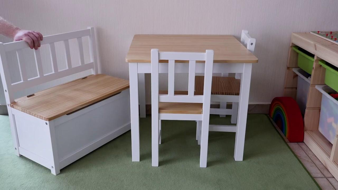 Hochwertig Impag Kinder Sitzgruppe Tisch Stühle Sitzbank Aus