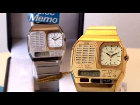 VintageDigitalWatches - Ep 1 - Citizen C010 Voice Memo Part1