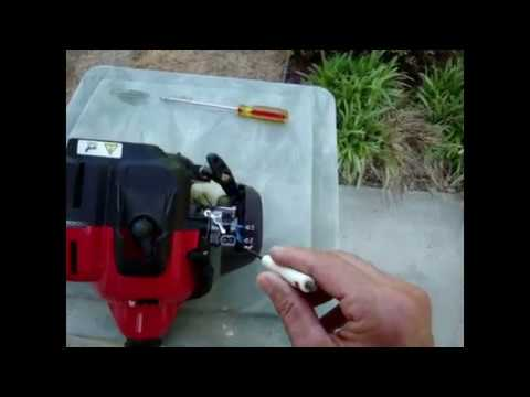 Easy Weed Eater Carburetor Adjustment To FIX -  BOGGING DOWN - STARTING PROBLEMS - ROUGH IDLE