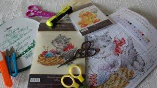 Вышивка крестом для начинающих 1 ЧАСТЬ: С чего начать? Работа со схемой. /Cross stitch for beginners