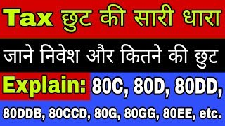 All Income Tax Deduction Section Explain in Hindi | Section 80 Deduction from Income Tax Department