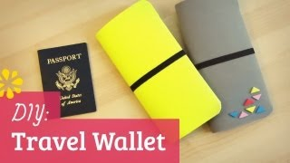 DIY Travel Wallet | Sonia's Travels Collab | Sea Lemon