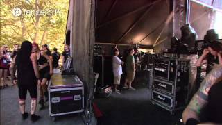 Backstage with Buckcherry and walk to stage