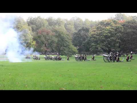 Gun salute for Chinese State Visit