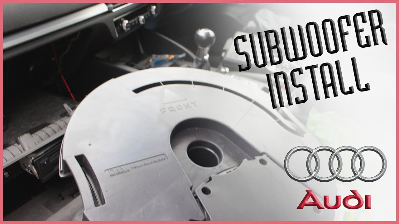 audi a3 8v 2013 install subwoofer youtube