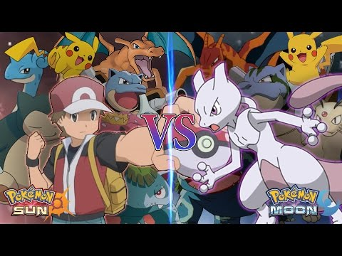Pokemon Sun and Moon: Legend Red Vs Mewtwo (Mewtwo Returns)
