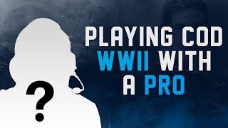 PLAYING COD WWII WITH A CALL OF DUTY PRO! CALL OF DUTY WORLD WAR 2 MULTIPLAYER GAMEPLAY