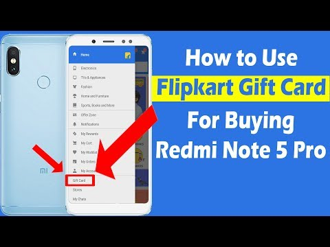 How to Use Flipkart Gift Card and Pay for Redmi Note 5 Pro (In Hindi)
