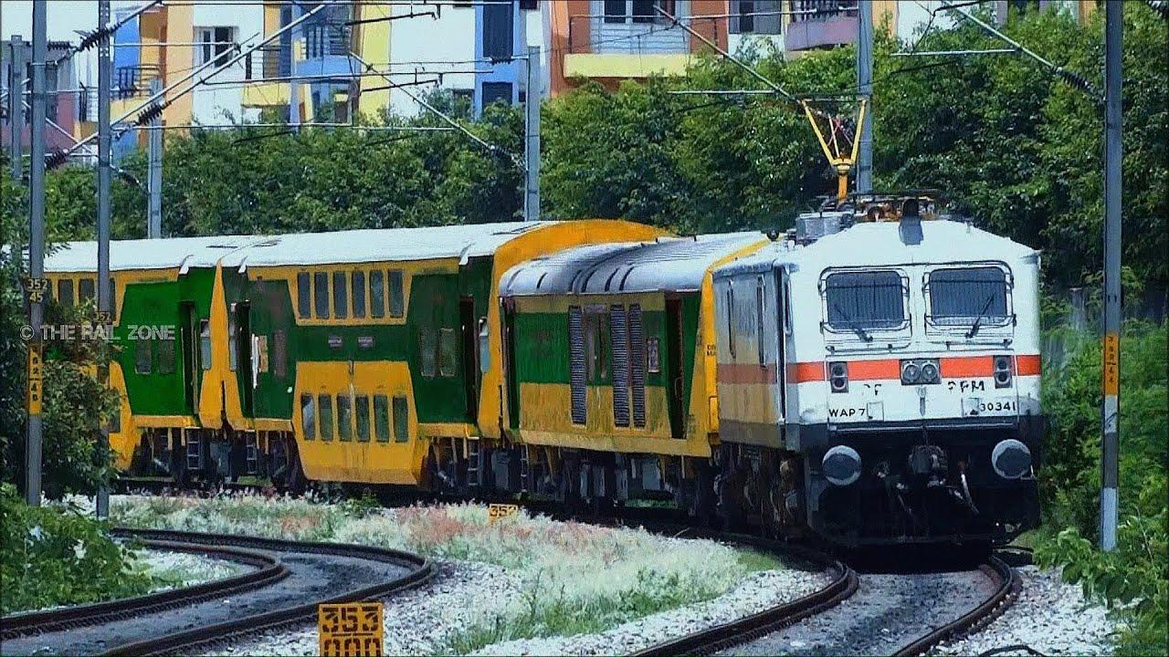 GREEN DOUBLE DECKER TRAIN : INDIAN RAILWAYS - YouTube