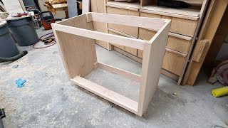 Making A Bathroom Vanity Cabinet with Drawers - Woodworking