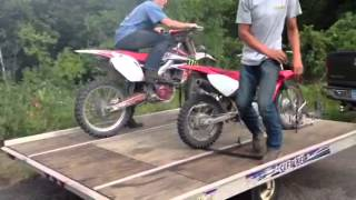 Dirt bike burn outs!!!