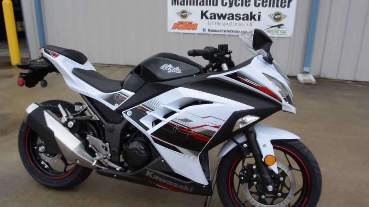 $5,199: 2014 Kawasaki Ninja 300 White Special Edition - YouTube