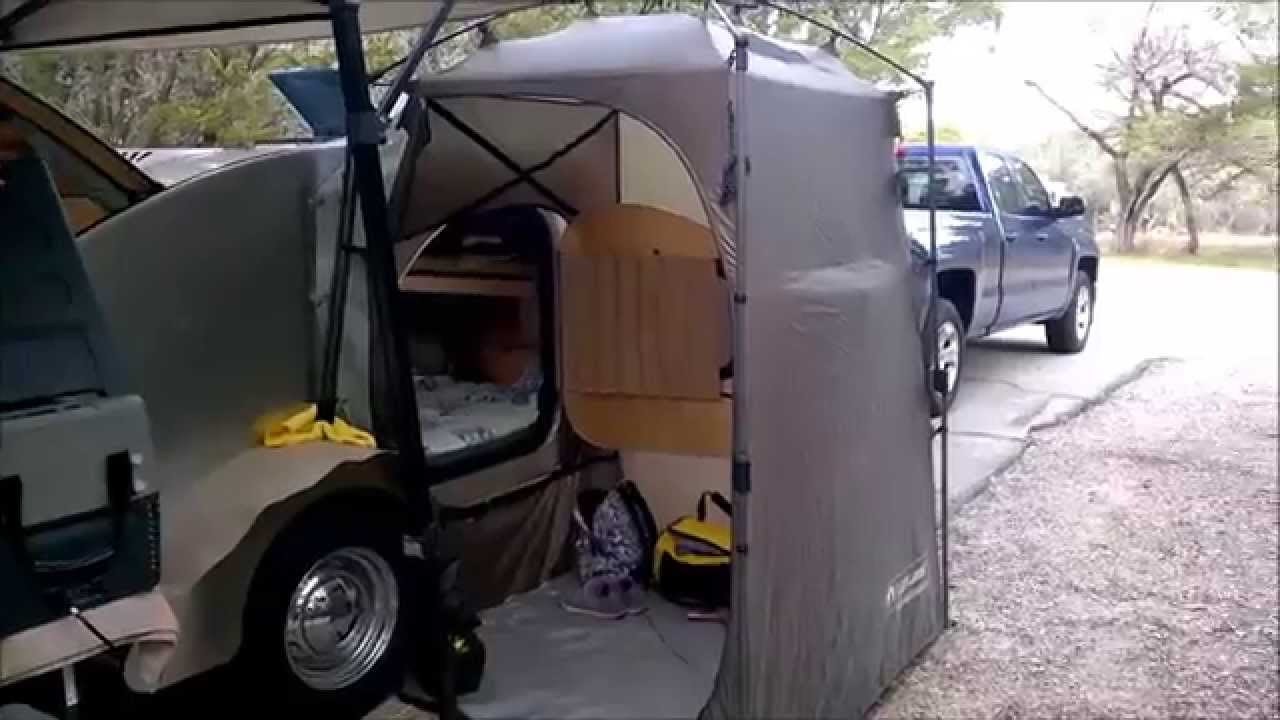 side entrance tent for my campinn 560 teardrop trailer youtube. Black Bedroom Furniture Sets. Home Design Ideas