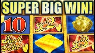 ★SUPER BIG WIN! ★ STACK OF GOLD Slot Machine Bonus (Aristocrat)