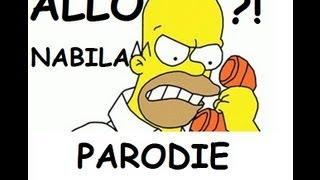 Allo?! Nabila appelle Homer Simpson T'es une fille et t'as pas de shampoing ?! Parodie facebook