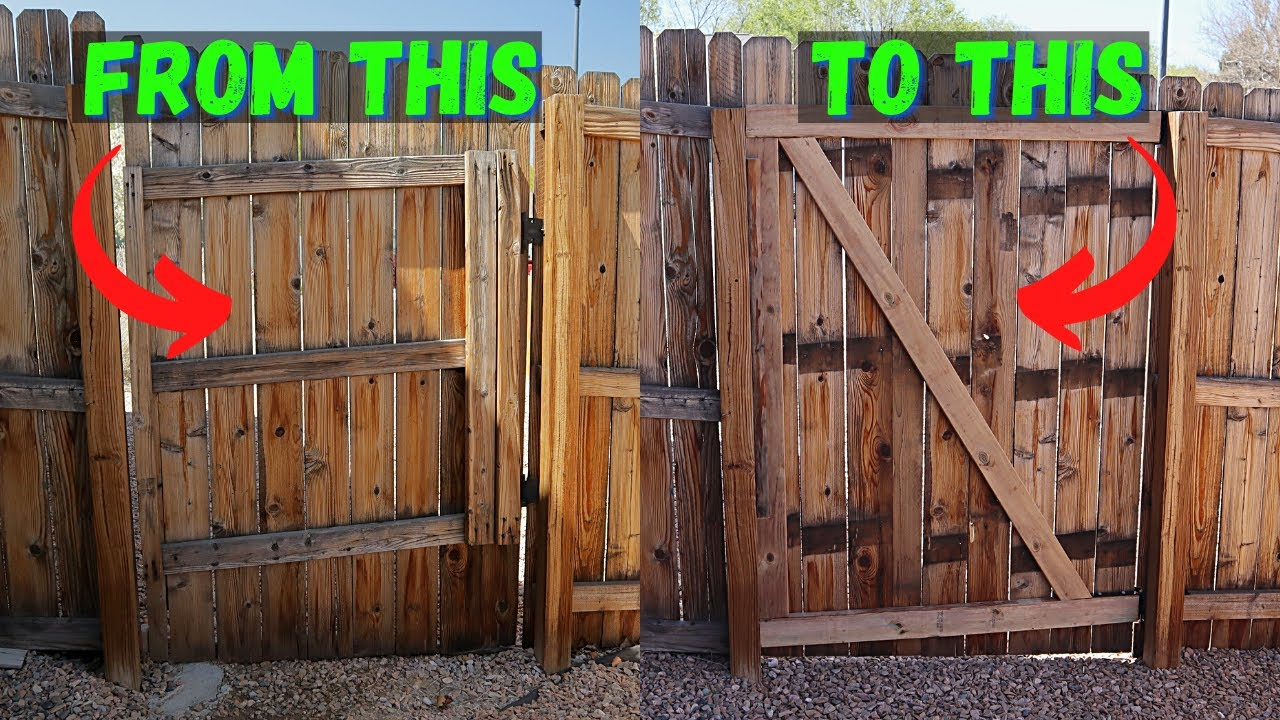 How To Sagging Fence Gate Repair with Custom DIY Hinges