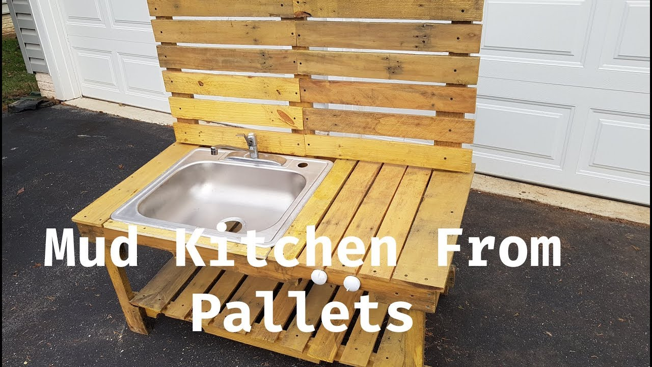 Kid S Mud Kitchen Made From Old Pallets Youtube