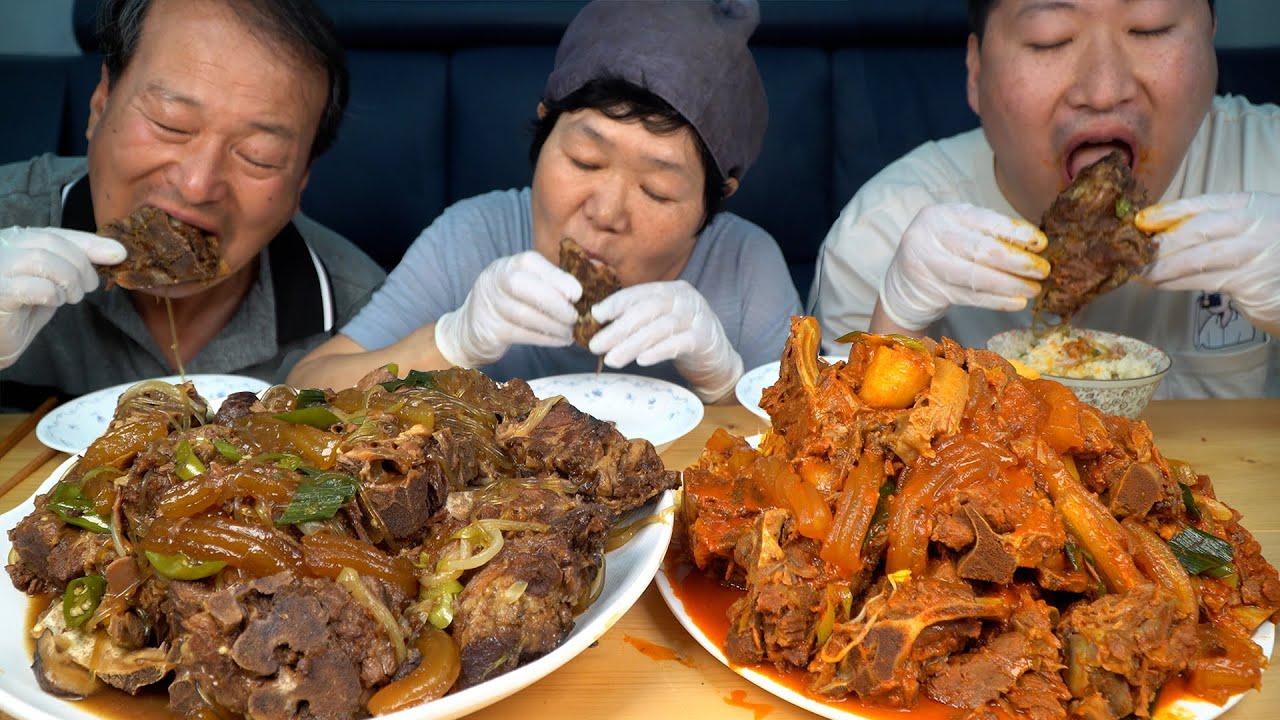 끓이기만 하면 뼈찜 뚝딱~ 간편하게 집에서 먹는 뼈찜 (Braised Back Ribs) 먹방!! - Mukbang eating show