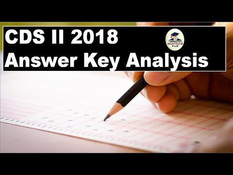 CDS 2018  Answer Key Analysis By VeeR (UPSC)