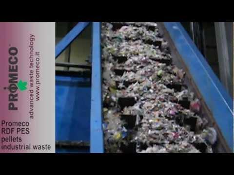 Promeco RDF PES pellets industrial waste