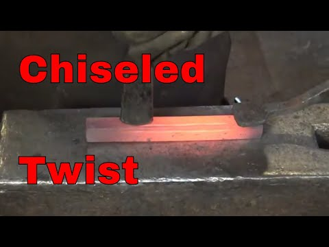 Forging a twist with chiseled corners