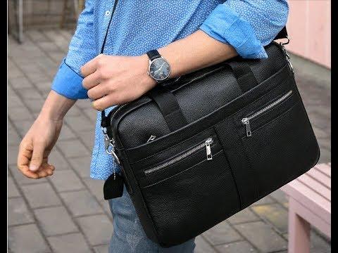 Лучшая, кожаная, мужская сумка с Aliexpress.