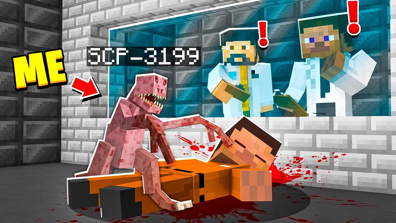 I Became BABY SCP-3199 in MINECRAFT! - Minecraft Trolling Video