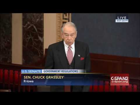 Grassley Urges President-elect Trump to Reverse Harmful Obama Admin Actions