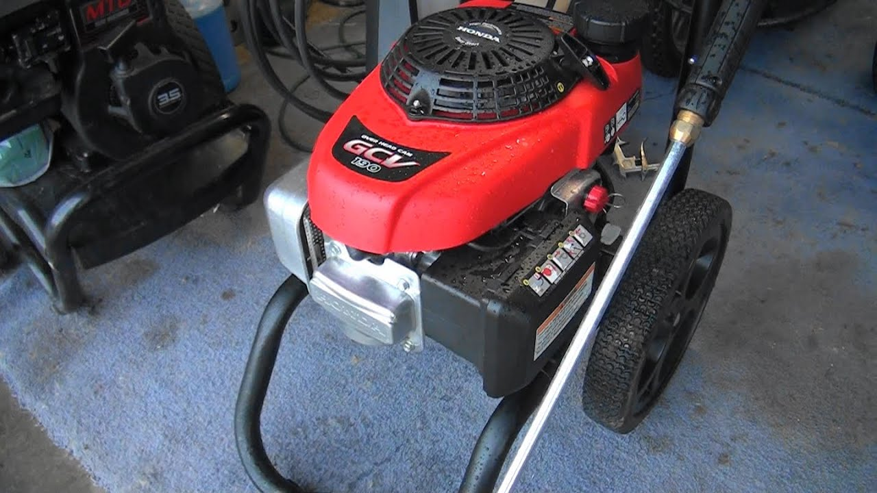 EASY FIX! HONDA PRESSURE WASHER that will not start after storage (plugged  carburetor main jet)