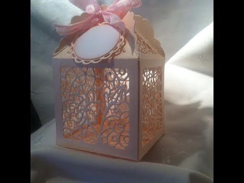 Birdcage Favour Box by Sizzix Designed by David Tutera - Constructing Tutorial