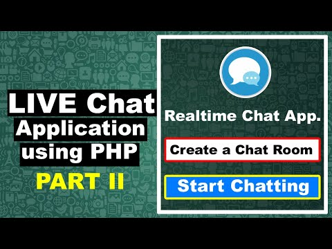 How To Create A Live Chat Application Using PHP II, Realtime Chat System Using PHP, Cyber Warriors