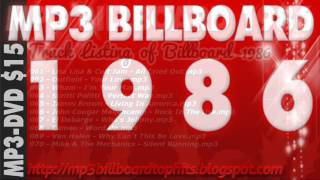 mp3 BILLBOARD 1986 TOP Hits mp3 BILLBOARD 1986