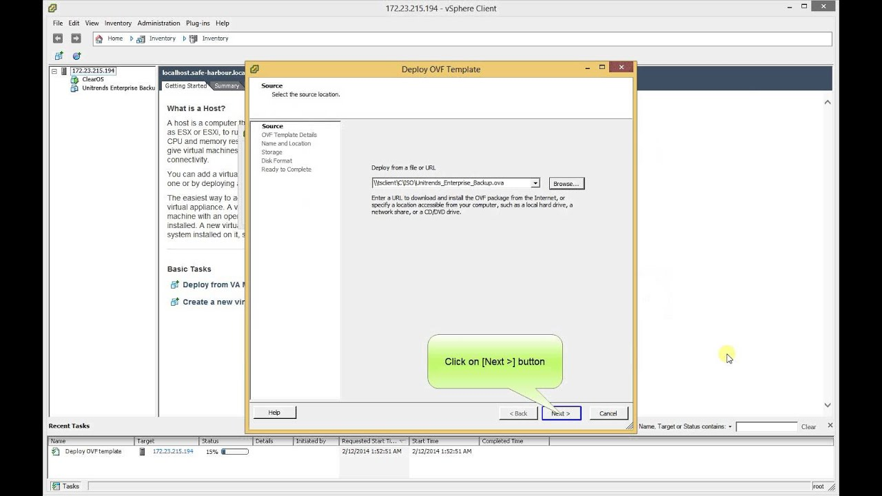 How to deploy VM from OVA file in vSphere ESXi 5 5 and 5