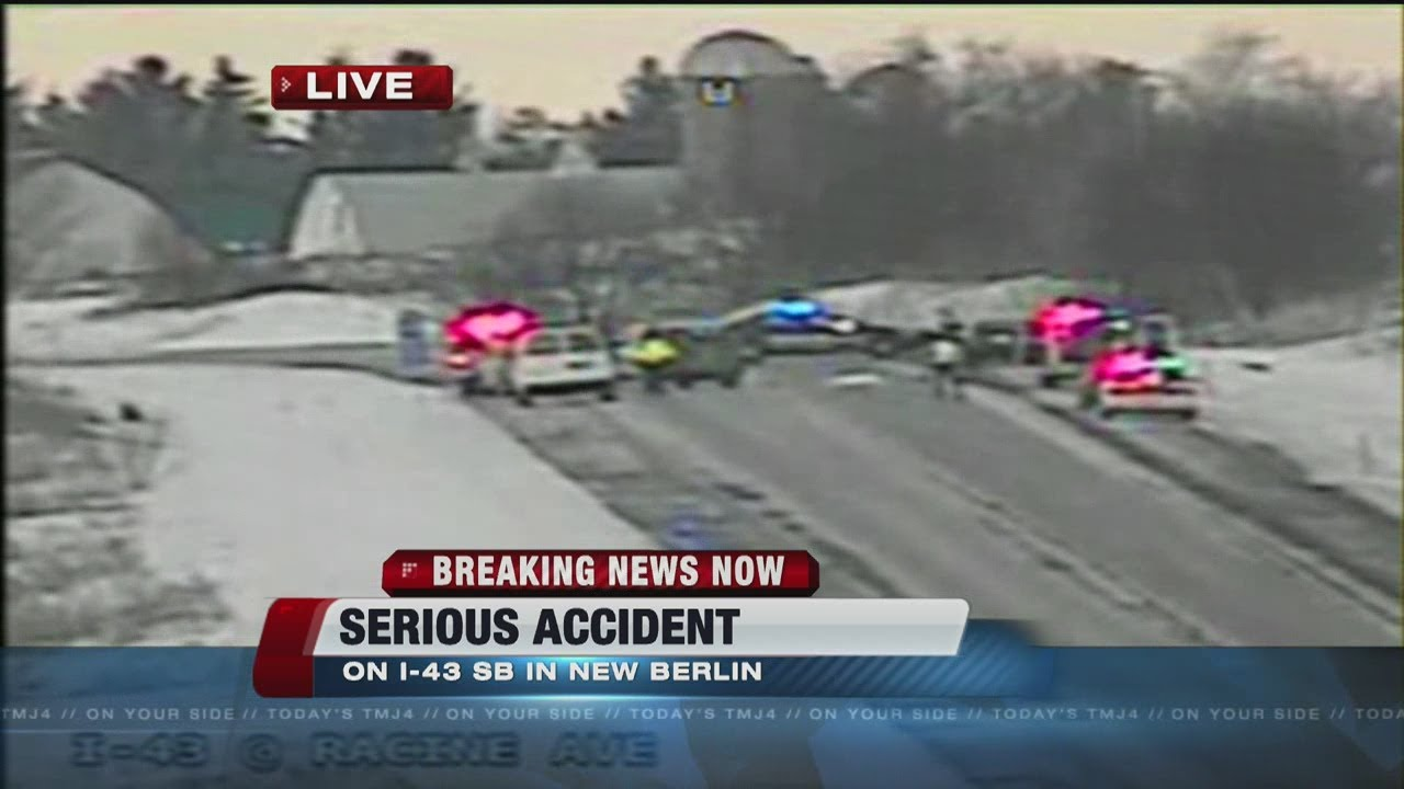Serious crash on I-43 southbound in New Berlin near Racine Avenue