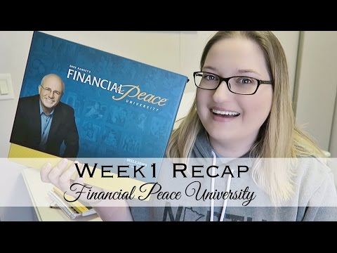 Week 1 Recap | Financial Peace University