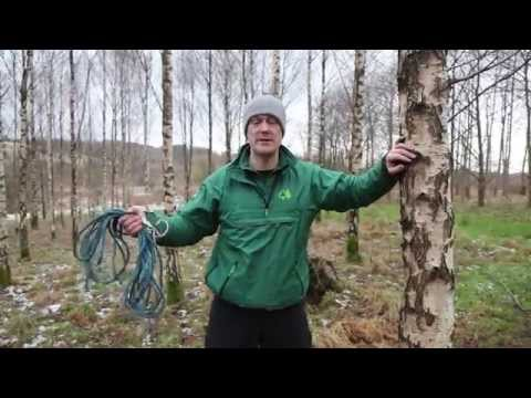 How to build a tarp shelter - Branching Out assistant leader training video