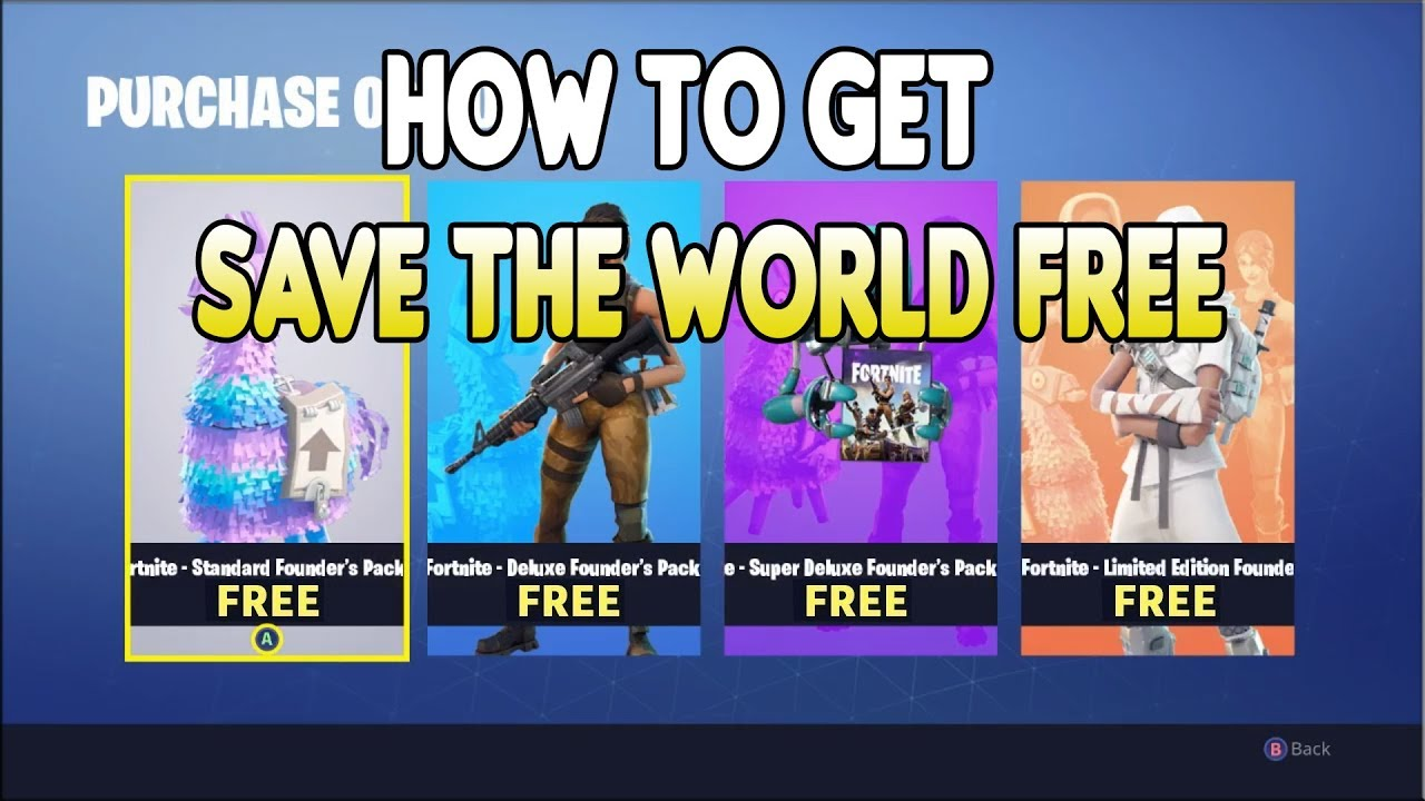 New How To Get Save The World Free On Fortnite Battle Royale