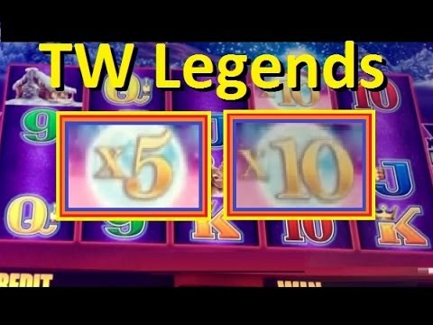Big Win Timber Wolf Legends Slot Machine Bonus Part 1