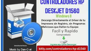 Controladores HP Deskjet D1560 Windows 8