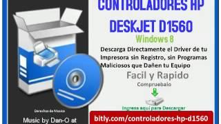 Controladores HP Deskjet D1560 Windows 8