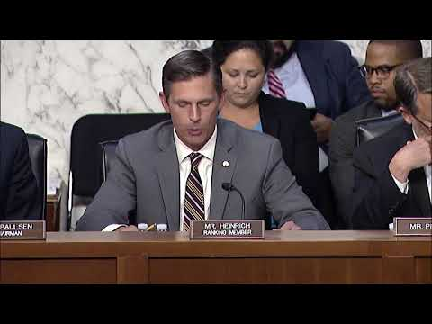 Heinrich Opening Statement at JEC Hearing on Republican Tax Scam and Federal Oversight