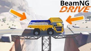 МОСТ НЕ ВЫДЕРЖАЛ ВЕС БЕЛАЗА - BeamNG drive