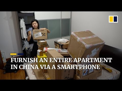 Furnish an entire apartment in China via a smartphone